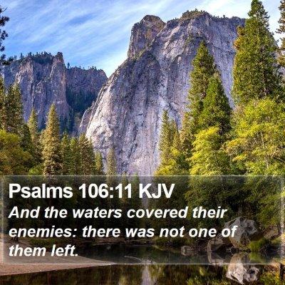 Psalms 106:11 KJV Bible Verse Image