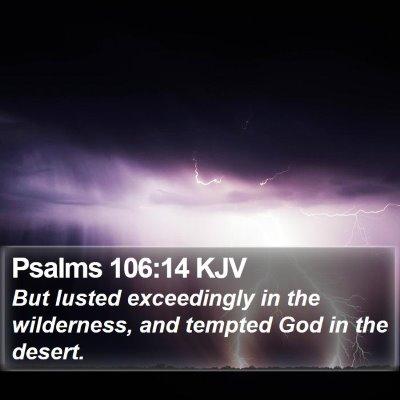 Psalms 106:14 KJV Bible Verse Image