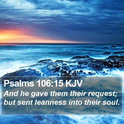 Psalms 106:15 KJV Bible Verse Image