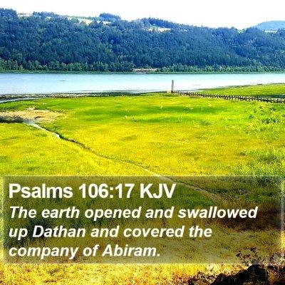 Psalms 106:17 KJV Bible Verse Image