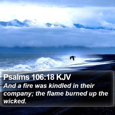 Psalms 106:18 KJV Bible Verse Image