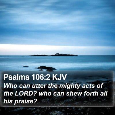 Psalms 106:2 KJV Bible Verse Image