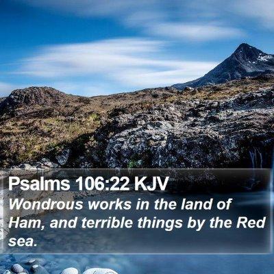 Psalms 106:22 KJV Bible Verse Image
