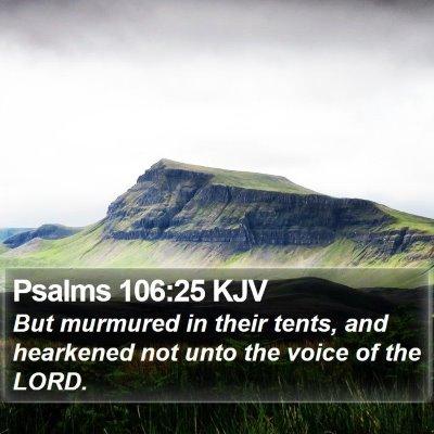 Psalms 106:25 KJV Bible Verse Image
