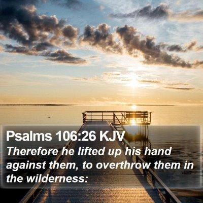 Psalms 106:26 KJV Bible Verse Image