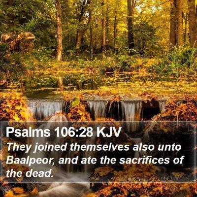 Psalms 106:28 KJV Bible Verse Image