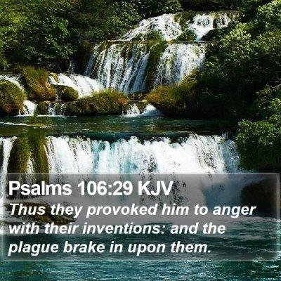 Psalms 106:29 KJV Bible Verse Image
