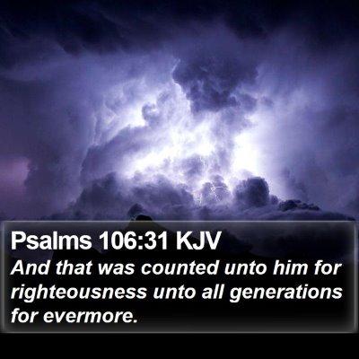 Psalms 106:31 KJV Bible Verse Image