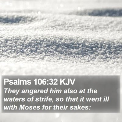 Psalms 106:32 KJV Bible Verse Image