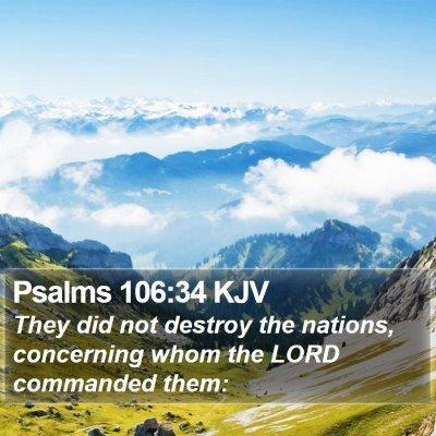 Psalms 106:34 KJV Bible Verse Image