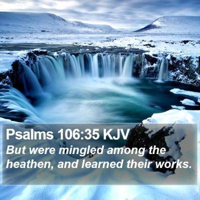 Psalms 106:35 KJV Bible Verse Image