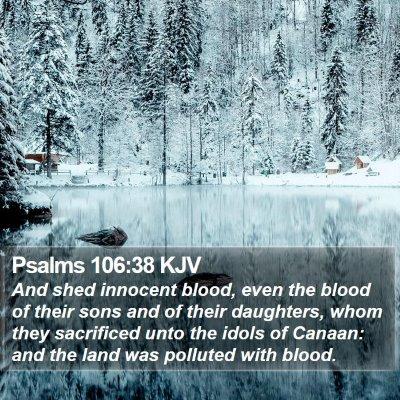 Psalms 106:38 KJV Bible Verse Image