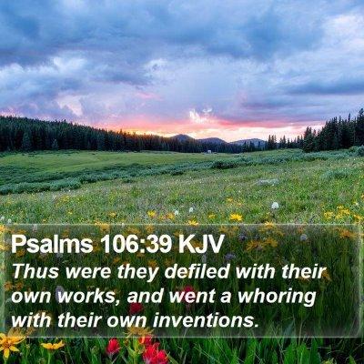 Psalms 106:39 KJV Bible Verse Image