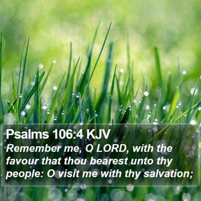 Psalms 106:4 KJV Bible Verse Image