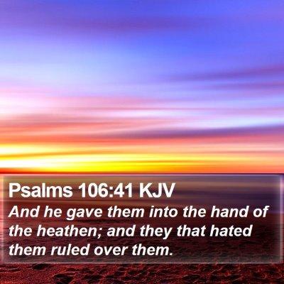Psalms 106:41 KJV Bible Verse Image