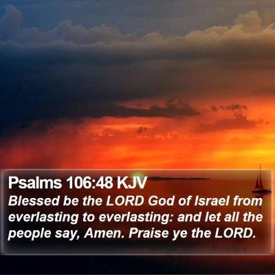 Psalms 106:48 KJV Bible Verse Image