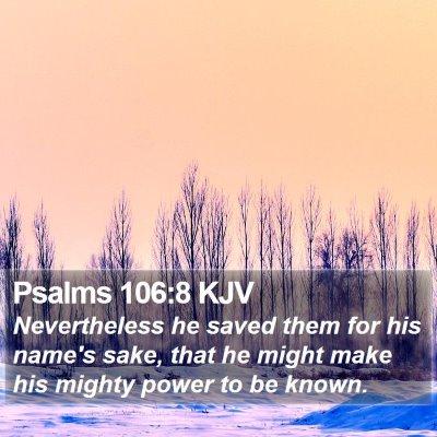 Psalms 106:8 KJV Bible Verse Image