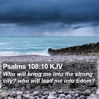 Psalms 108:10 KJV Bible Verse Image