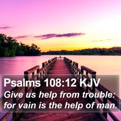 Psalms 108:12 KJV Bible Verse Image