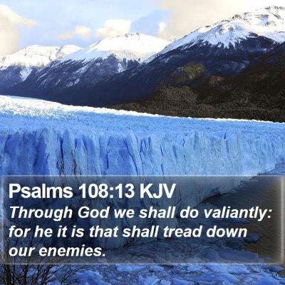 Psalms 108:13 KJV Bible Verse Image