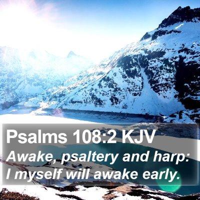 Psalms 108:2 KJV Bible Verse Image