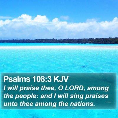 Psalms 108:3 KJV Bible Verse Image