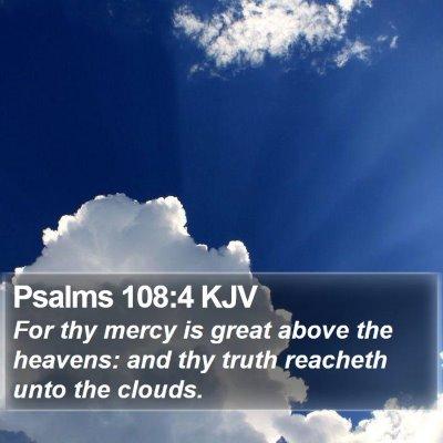 Psalms 108:4 KJV Bible Verse Image