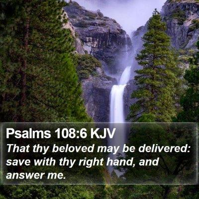 Psalms 108:6 KJV Bible Verse Image
