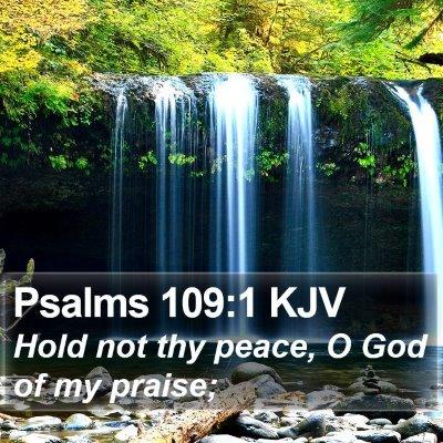 Psalms 109:1 KJV Bible Verse Image