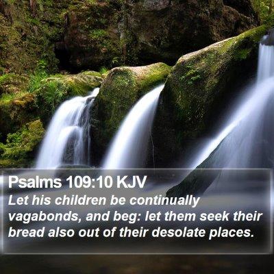 Psalms 109:10 KJV Bible Verse Image