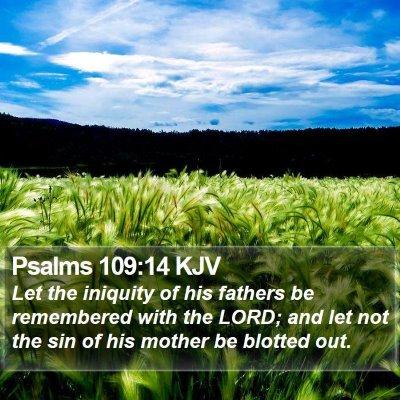 Psalms 109:14 KJV Bible Verse Image