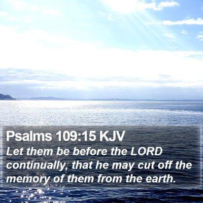 Psalms 109:15 KJV Bible Verse Image