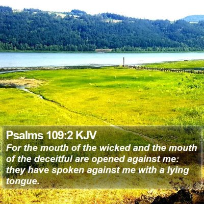 Psalms 109:2 KJV Bible Verse Image