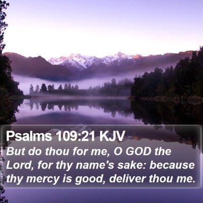 Psalms 109:21 KJV Bible Verse Image