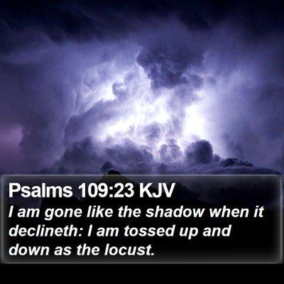 Psalms 109:23 KJV Bible Verse Image