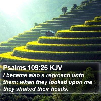 Psalms 109:25 KJV Bible Verse Image