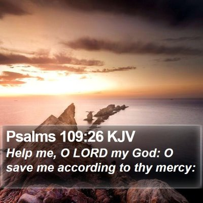 Psalms 109:26 KJV Bible Verse Image