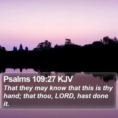 Psalms 109:27 KJV Bible Verse Image