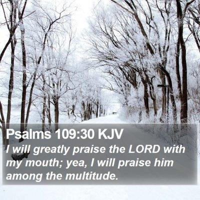 Psalms 109:30 KJV Bible Verse Image