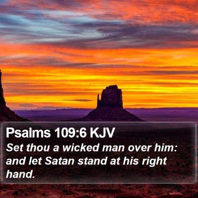 Psalms 109:6 KJV Bible Verse Image