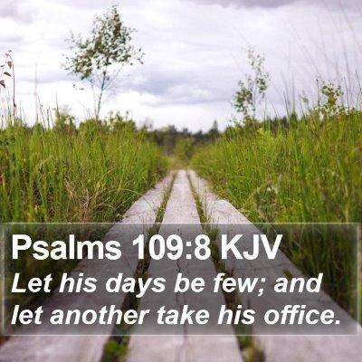Psalms 109:8 KJV Bible Verse Image