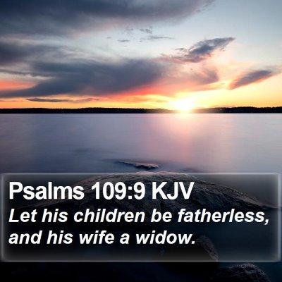 Psalms 109:9 KJV Bible Verse Image