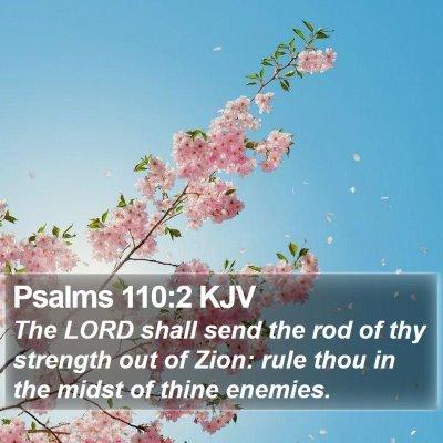 Psalms 110:2 KJV Bible Verse Image