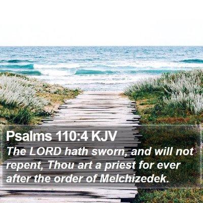 Psalms 110:4 KJV Bible Verse Image