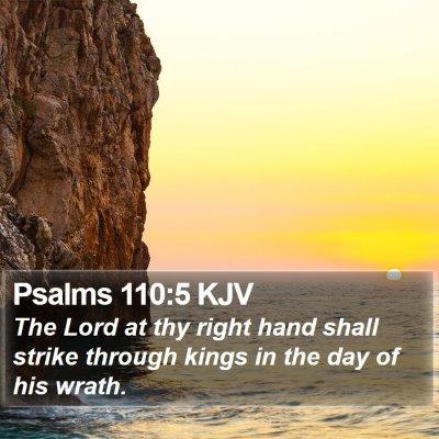 Psalms 110:5 KJV Bible Verse Image