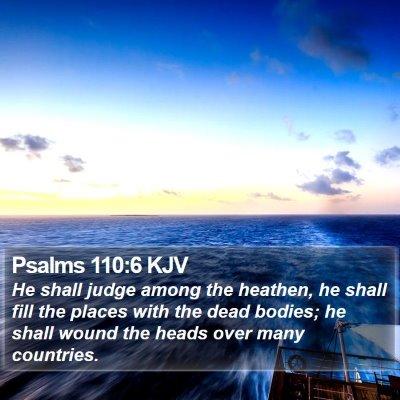 Psalms 110:6 KJV Bible Verse Image
