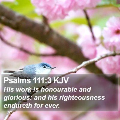 Psalms 111:3 KJV Bible Verse Image