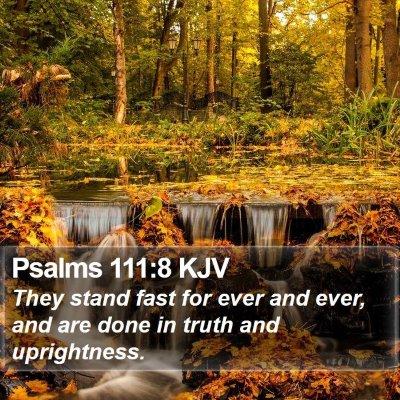 Psalms 111:8 KJV Bible Verse Image