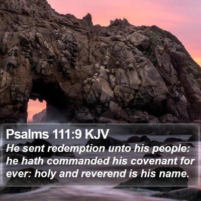Psalms 111:9 KJV Bible Verse Image