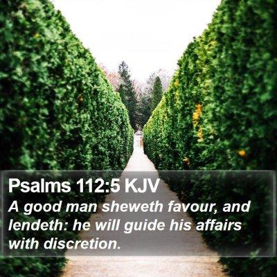 Psalms 112:5 KJV Bible Verse Image